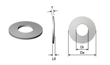 Dessin technique - Rondelles ressorts - Acier noir