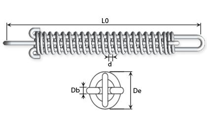 Dessin technique - Ressorts dynamométrique
