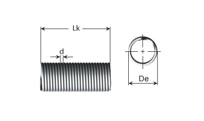 Dessin technique - Ressorts de traction - Série D