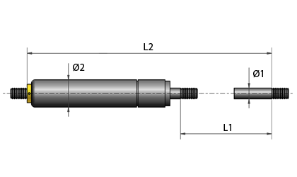 Technical drawing - GF gas springs
