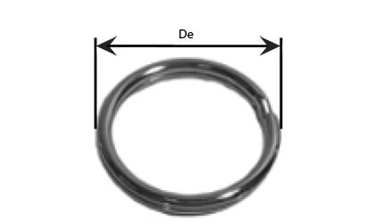 Dessin technique - Anneau brisé  - Galvanisé