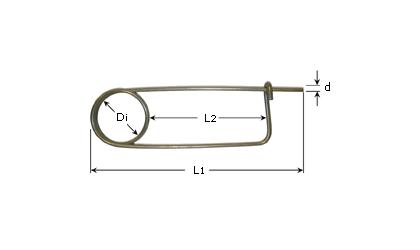 Dessin technique - Goupille de blocage  - Acier inoxydable