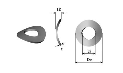 Dessin technique - Rondelles à ressort de vague
