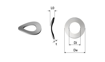 Dessin technique - Rondelles ressorts ondulées