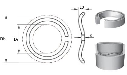 Dessin technique - Ressorts ondulés en fil rond - Acier au carbone