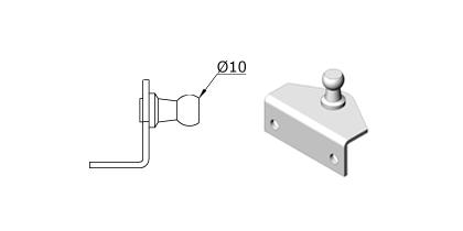 Technical drawing - Endfitting - Brackets ball