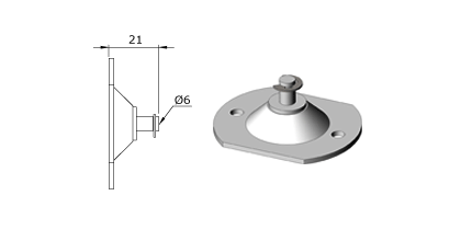 Technical drawing - Endfitting - Brackets mandrel