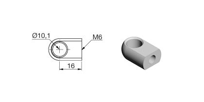 Technical drawing - Endfitting - Eye