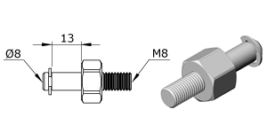 Technical drawing - Endfitting - Ballstud